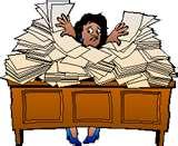 Crazy lady desk